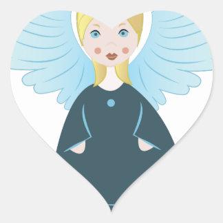 Pretty Angel Heart Sticker