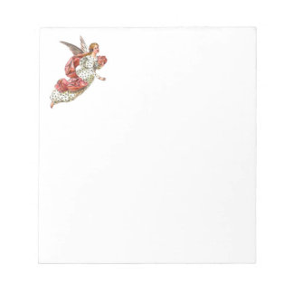 Pretty Angel With Pink Ribbon Notepad