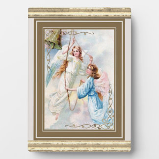 Pretty Angels With Bell Plaque