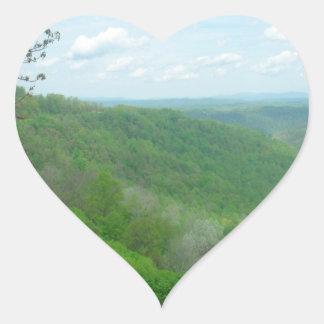 Pretty Appalachian Overlook Heart Sticker