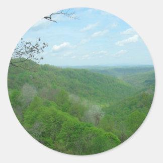 Pretty Appalachian Overlook Round Sticker
