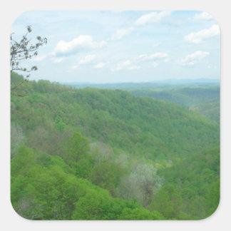 Pretty Appalachian Overlook Square Sticker