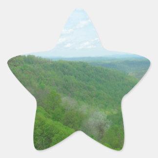 Pretty Appalachian Overlook Star Sticker