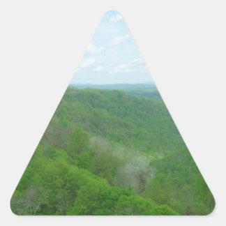 Pretty Appalachian Overlook Triangle Sticker