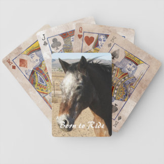 Pretty Appaloosa Horse - Western Bicycle Playing Cards