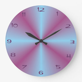 Pretty Aqua Pink Illuminated > Patterned Clock