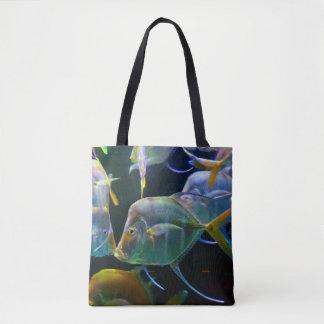 Pretty Aquatic Up Close School Of Fish Tote Bag