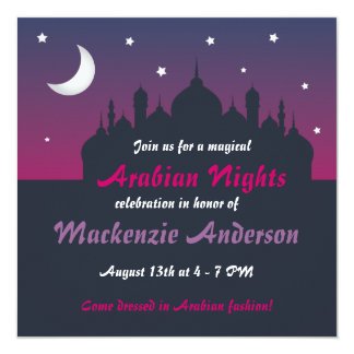Pretty Arabian Nights Party Invitation
