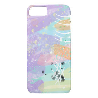 Pretty Art Digital Watercolor Painting Pale Pastel iPhone 8/7 Case