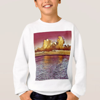 Pretty Artistic Magenta Rose Golden Seascape Sweatshirt