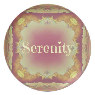 Pretty Artistic Rose Yellow Framed 'Serenity' Plate