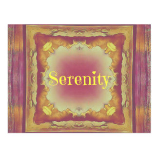 Pretty Artistic Rose Yellow Framed 'Serenity' Postcard