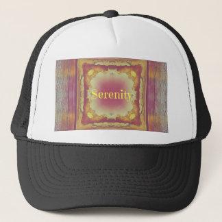 Pretty Artistic Rose Yellow Framed 'Serenity' Trucker Hat