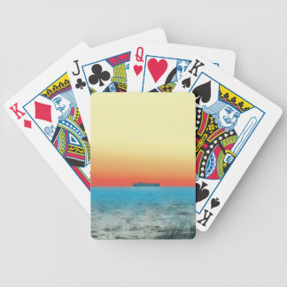 Pretty Artistic Seascape Naval ship Silhouette Bicycle Playing Cards