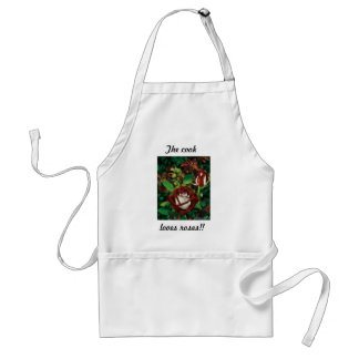 Pretty as a rose... adult apron