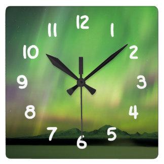Pretty Aurora Clock