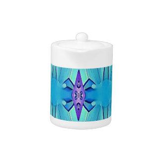 Pretty Azure Blue Lilac Girly Pattern