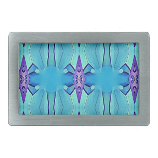 Pretty Azure Blue Lilac Girly Pattern Belt Buckles