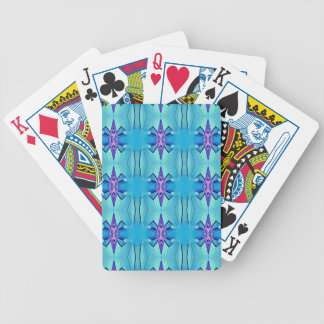 Pretty Azure Blue Lilac Girly Pattern Bicycle Playing Cards