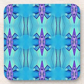 Pretty Azure Blue Lilac Girly Pattern Coaster