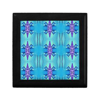Pretty Azure Blue Lilac Girly Pattern Gift Box