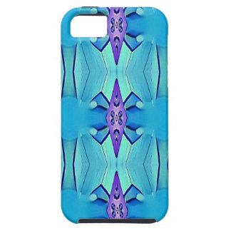 Pretty Azure Blue Lilac Girly Pattern iPhone 5 Cases