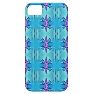 Pretty Azure Blue Lilac Girly Pattern iPhone 5 Cover