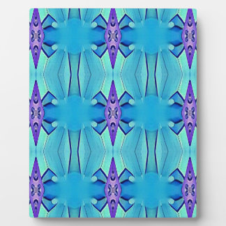 Pretty Azure Blue Lilac Girly Pattern Plaque