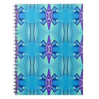 Pretty Azure Blue Lilac Girly Pattern Spiral Notebook