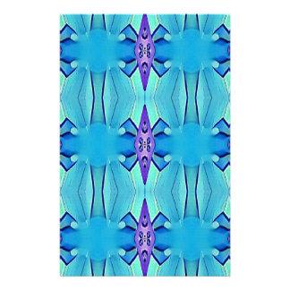 Pretty Azure Blue Lilac Girly Pattern Stationery