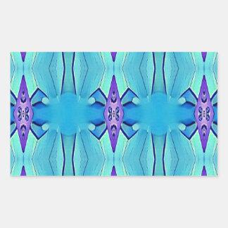 Pretty Azure Blue Lilac Girly Pattern Sticker