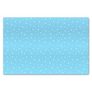 Pretty Baby Blue and White Stars Tissue Paper