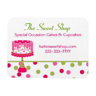 Pretty Bakery Business Card Magnet