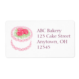 Pretty Bakery Rose Cake Label