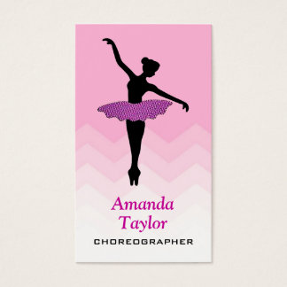 Pretty Ballerina Dancer Ballet Dance Choreographer Business Card