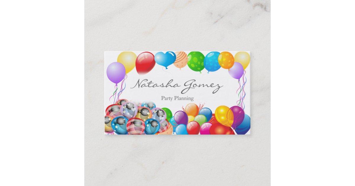 Pretty Balloon, Party Planner - Business Card | Zazzle.ca