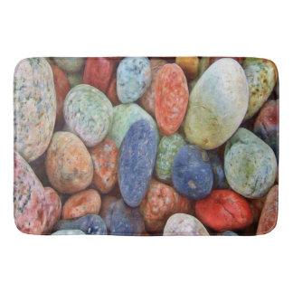 Pretty beach rocks Bathroom mat