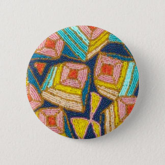 Pretty Beaded Art Deco Design 2 Inch Round Button