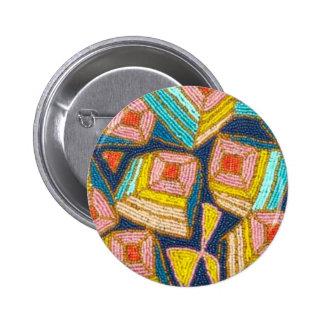 Pretty Beaded Art Deco Design 2 Inch Round Button