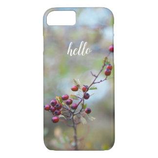 """Pretty Berry """"Hello"""" phone case"""