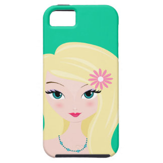 Pretty Blonde with Daisy iPhone 5 Covers