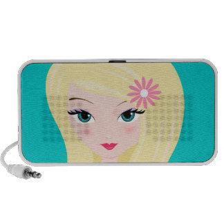 Pretty Blonde with Daisy Laptop Speaker