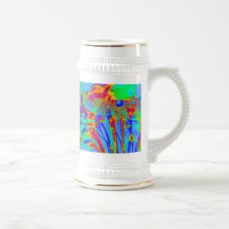 Pretty blue abstract pattern mug