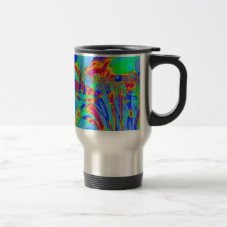 Pretty blue abstract pattern mugs