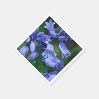 Pretty Blue Bell Flowers Disposable Napkins