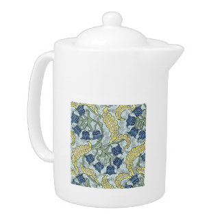 Pretty Blue Bell Tapestry Large Teapot