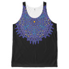 Pretty Blue Boho Kaleidoscope Mandala All-Over-Print Tank Top