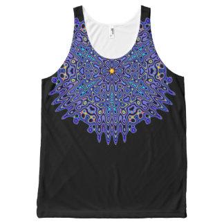 Pretty Blue Boho Kaleidoscope Mandala All-Over-Print Tank Top
