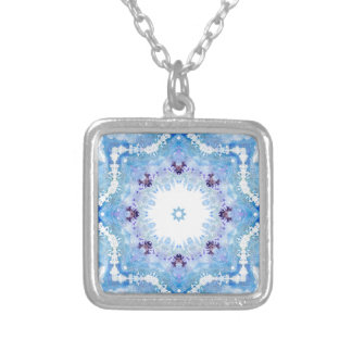 Pretty blue butterflies silver plated necklace
