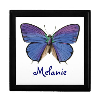 Pretty Blue Butterfly Custom Gift Box